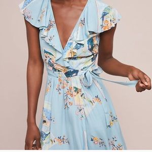 Anthropologie wrap dress xlarge 16